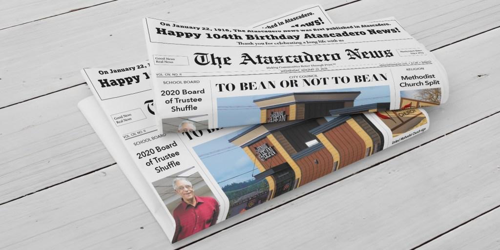 Atascadero News January 22, 2020