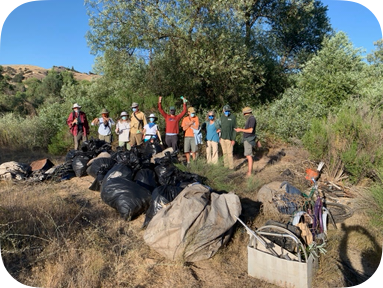 Beaver Brigade Clean Up Abandoned Homeless Camp In Salinas Riverbed