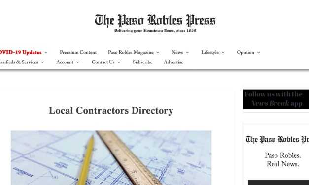 Atascadero News Contractors Directory Goes Digital