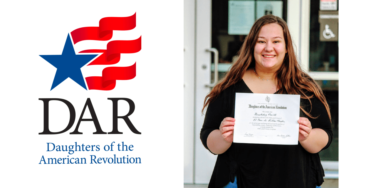 Daughters of the American Revolution Good Citizen Awarded to THS Senior Brooksley Pruitt