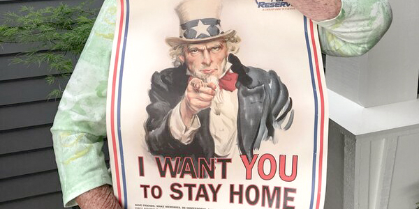 Even Uncle Sam Is Asking, 'Stay Home'