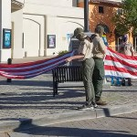 Scouts Lower Flags for Peace Officer Memorial Day
