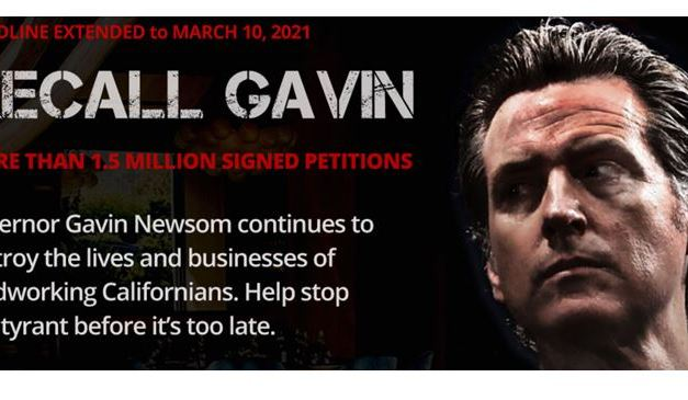 'Recall Gavin Newsom' Campaign Reaches More Than 1.5 Million Signatures