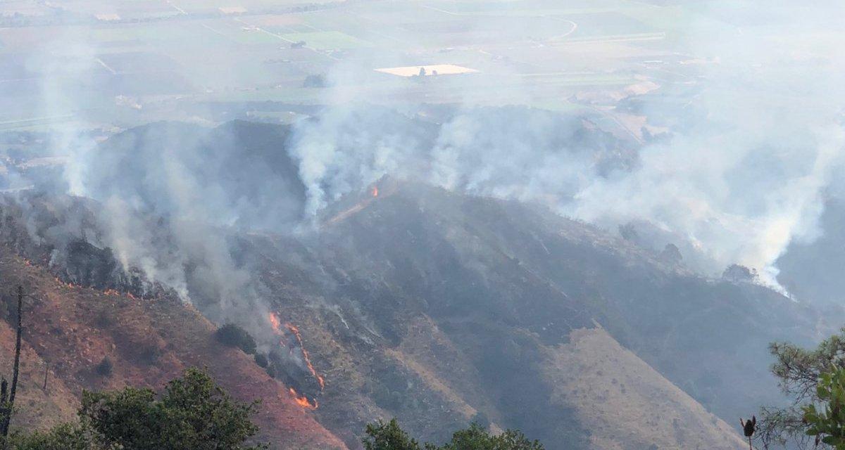 Hazy Skies Due to River Fire Burning Near Salinas
