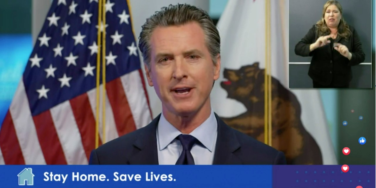 Newsom Says There is 'Sunshine on the Horizon'