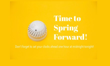 Spring Forward and Change Your Smoke Alarm Batteries