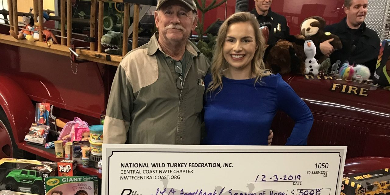 Atascadero Chapter of National Wild Turkey Federation Makes Donation to Food Bank