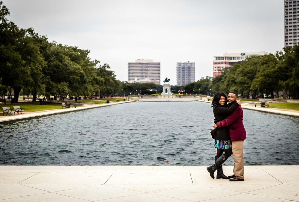 Hermann Park Engagement Photo Rachel