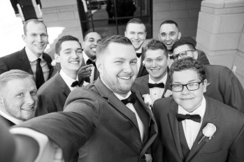 Wedding Day Selfie with the Groomsmen and Ushers.