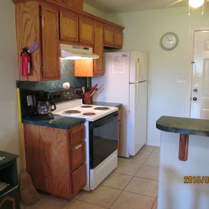 Full Kitchen included at Atascosa Outlook. Waterfront Arroyo City Rentals near Rio Hondo, TX in the Rio Grande Valley