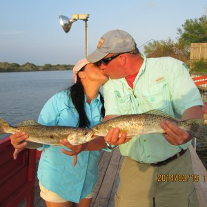 Fishing Arroyo City Trout at Atascosa Outlook South Texas Bed and Breakfast.