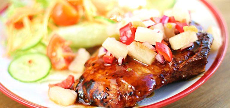 Glazed Teriyaki Pork Loin Steaks