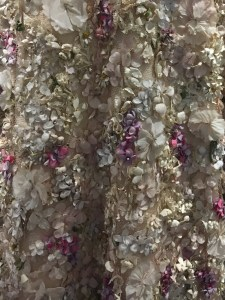 Up close of fabric from Dior gown.