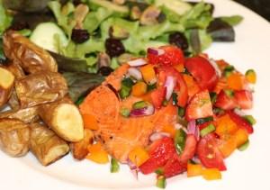 Salmon with Strawberry Salsa