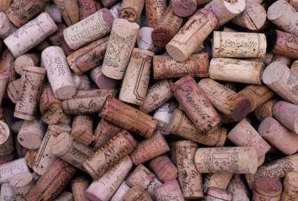 Burgundy french wine corks