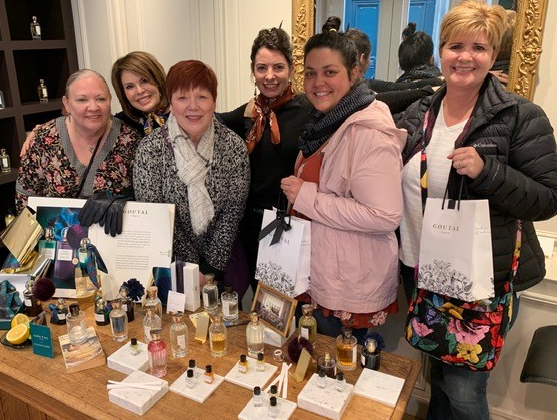Several A Taste of Paris travels that attended the perfume workshop