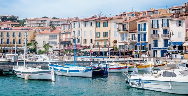 Cassis France harbor view