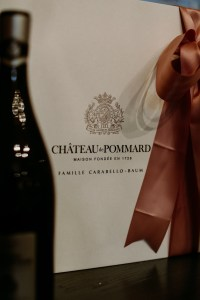 chateau Pommard box and wine