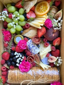 fruit and cheese for bride on day of wedding
