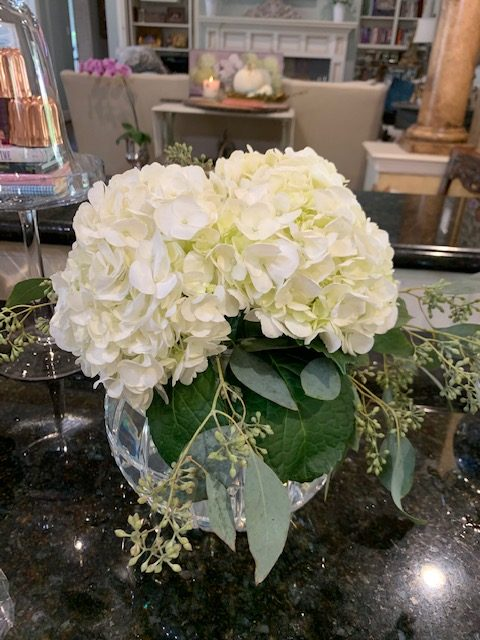 Finished hydrangea arrangements are stunning florals for the home.