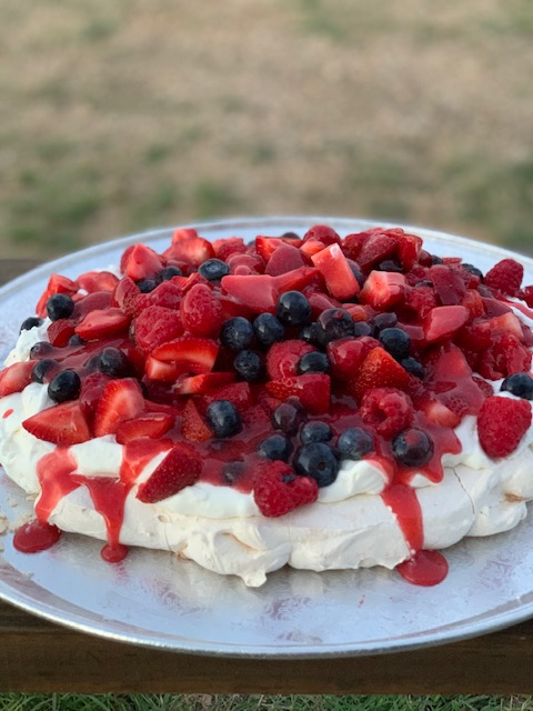 Gorgeous Pavlova with Berries and Cream Recipe