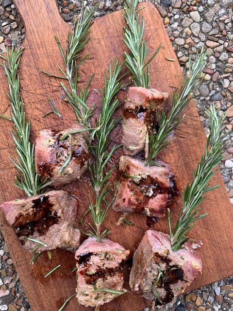 Rosemary Skewered Beef Recipe