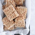 No Refined Sugar Brown Rice Crispy Treats