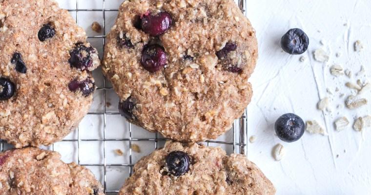 Healthy Oat Blueberry Breakfast Cookie
