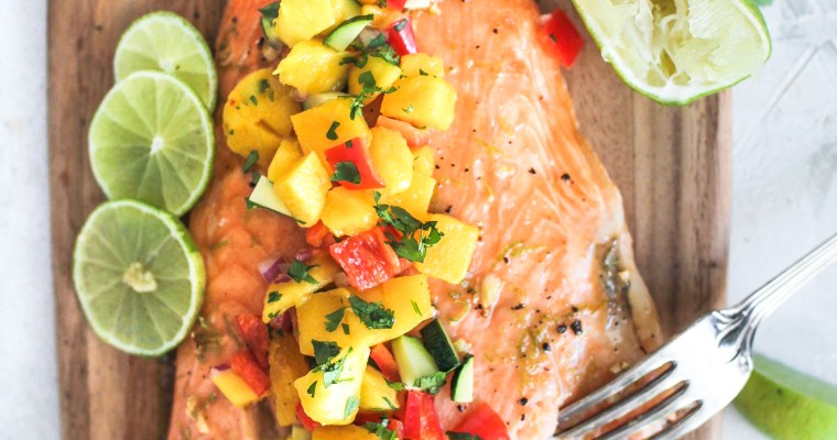 Honey Lime Mango Pico de Gallo Salmon