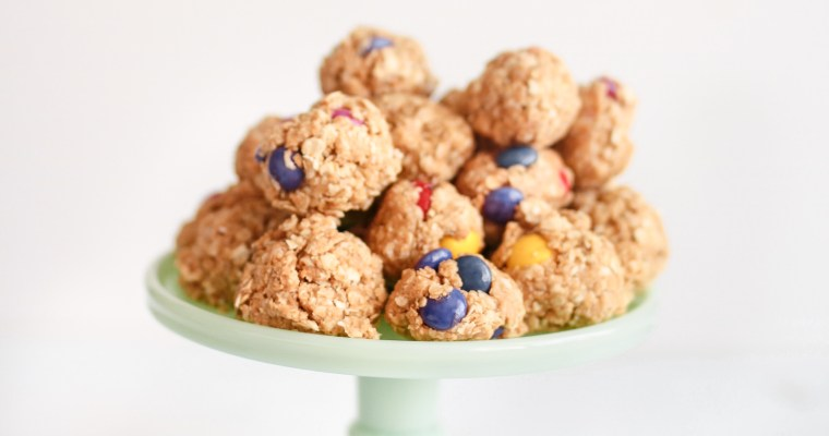 No Bake Monster Peanut Butter Pieces Energy Bites