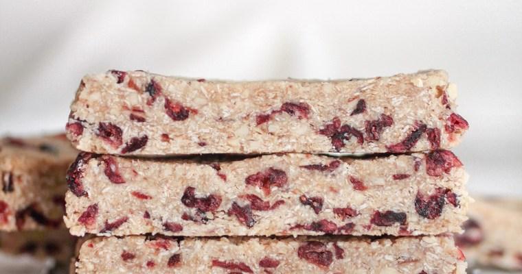 6 Ingredient Cranberry Almond Granola Bars