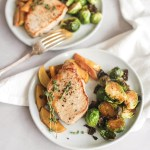 Stovetop Maple Apple Pork with Brussels Sprouts