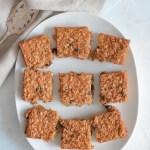 Healthy Pumpkin Oatmeal Raisin Baked Squares