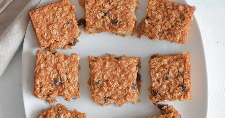 Healthiest Pumpkin Oatmeal Raisin Breakfast Squares