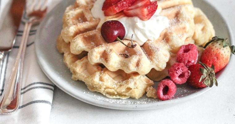 Vanilla Breakfast Waffles