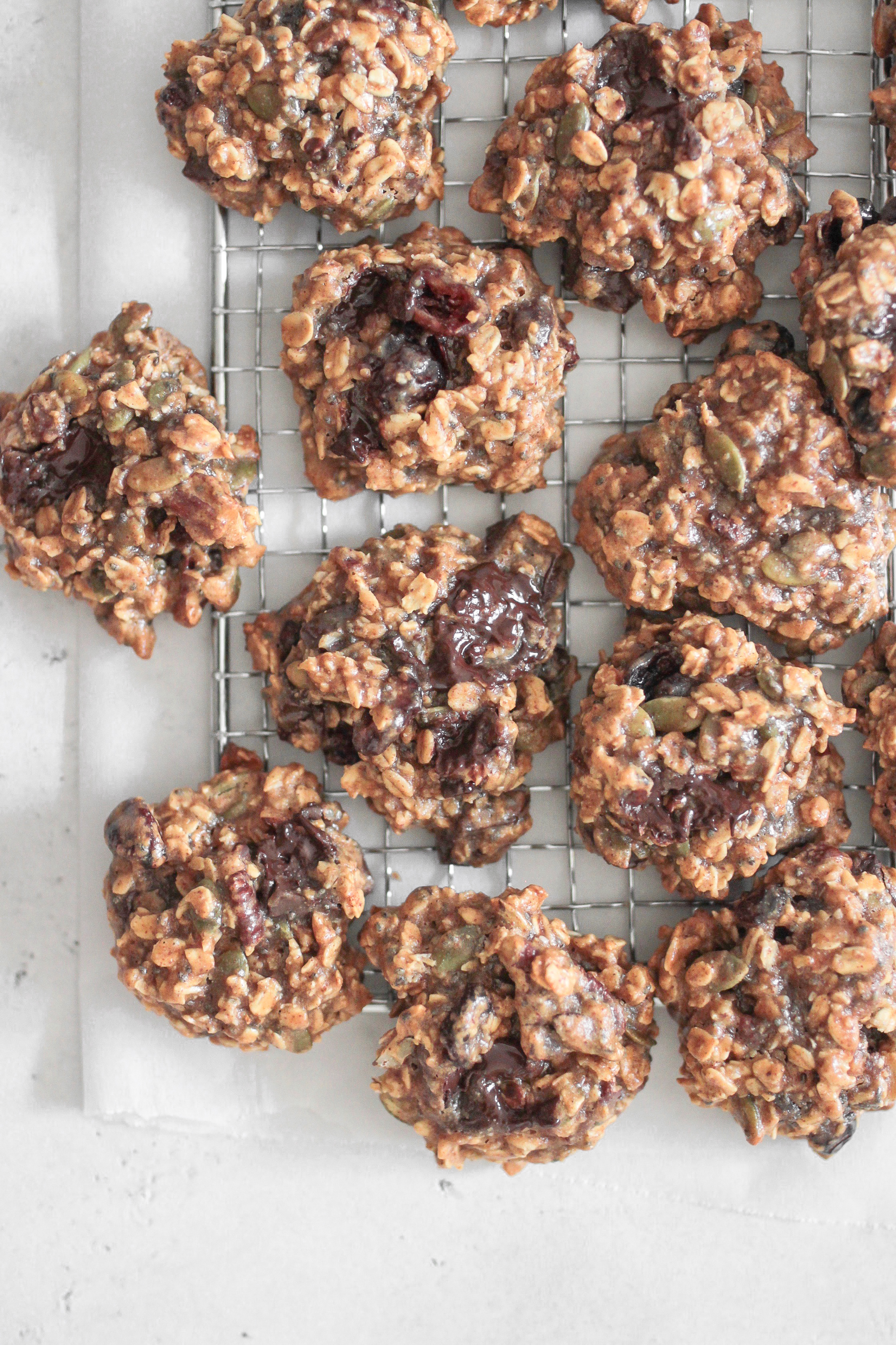 Oat Chocolate Chia Seed Cookie Clusters
