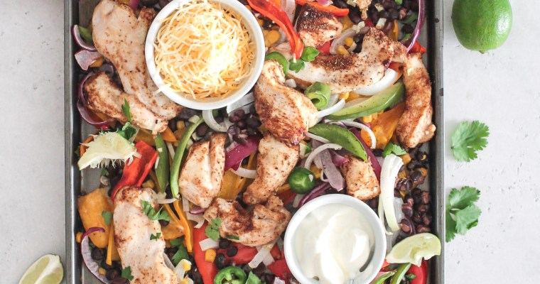 Chicken Fajita Sheet Pan Meal