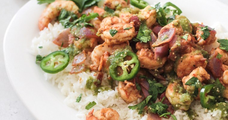 Salsa Verde Jalapeno Shrimp