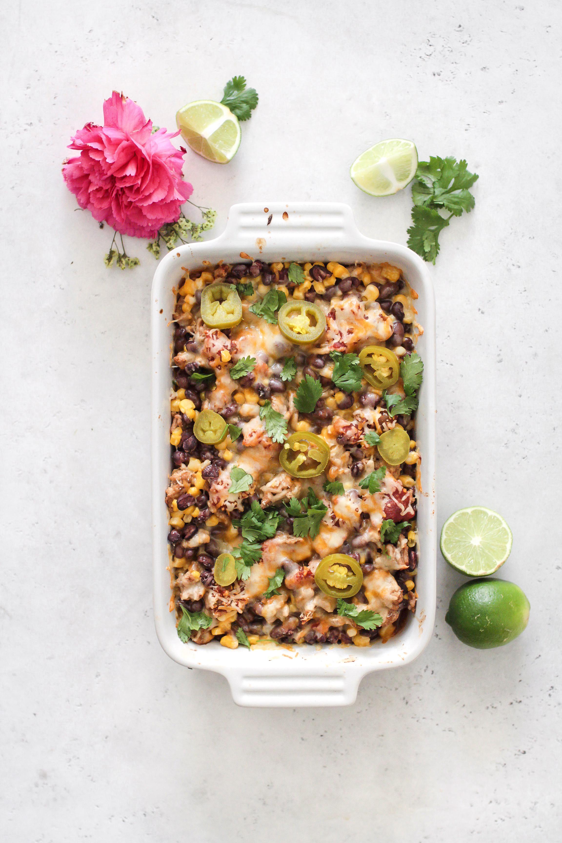 Mexican Turkey and Corn Casserole