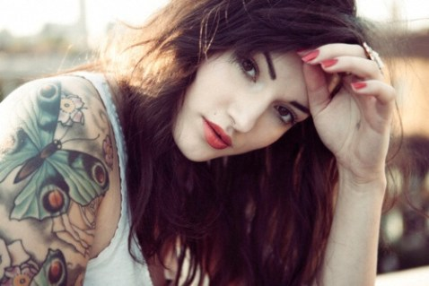 Hot girl with tattoo