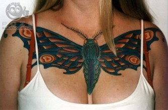 This one is a very Big Moth tattoo - I decided to put it here because moth is a kind of a night butterfly ;)