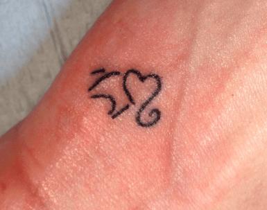 11 Cute Heart Shaped Elephant Tattoo