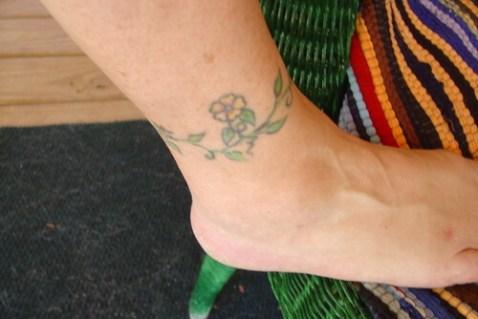 16 Flower ankle tattoo for girls