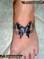 Foot butterfly tattoo designs 11