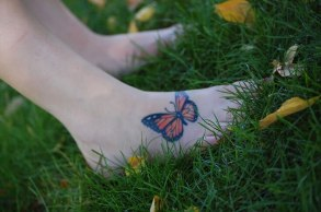 Foot butterfly tattoo designs 14