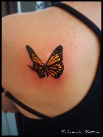 Shoulder butterfly tattoo designs 1