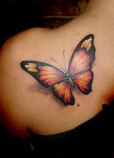 Shoulder butterfly tattoo designs 10