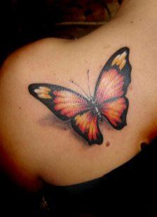 Shoulder butterfly tattoo designs 10