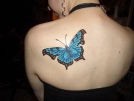 Shoulder butterfly tattoo designs 7