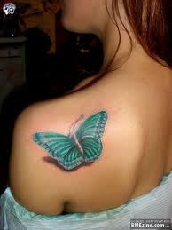 Shoulder butterfly tattoo designs 9